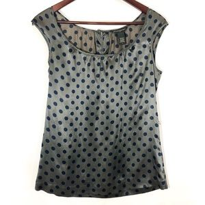 Banana Republic Silk Blend Polka Dot Blouse